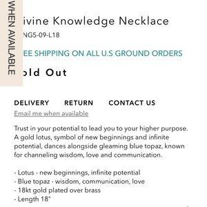 Satya Jewelry Jewelry - SATYA Blue Topaz Divine Knowledge Necklace